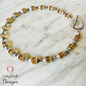 Jewelry - 16- inch Topaz Swarovski Crystal Necklace
